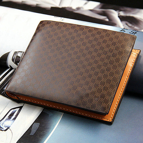 Men Fashion Faux Leather Pocket Wallet Clutch ID Credit Card Holder Bifold Purse-Wallets-SJI Shop