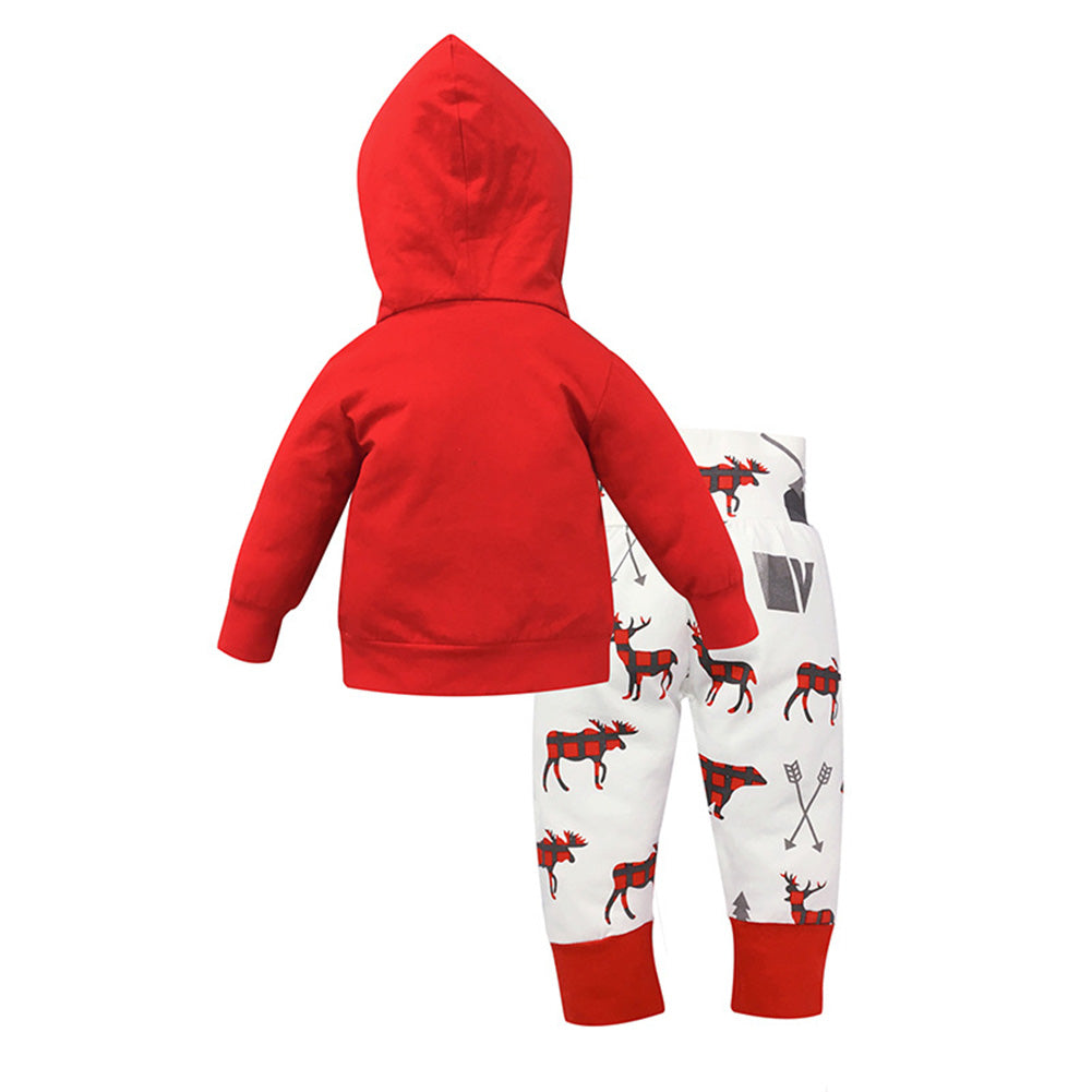 2Pcs Toddler Baby Boys Girls Kids Coat Top + Long Pants Clothes Outfits Set-Baby's Sets-SJI Shop