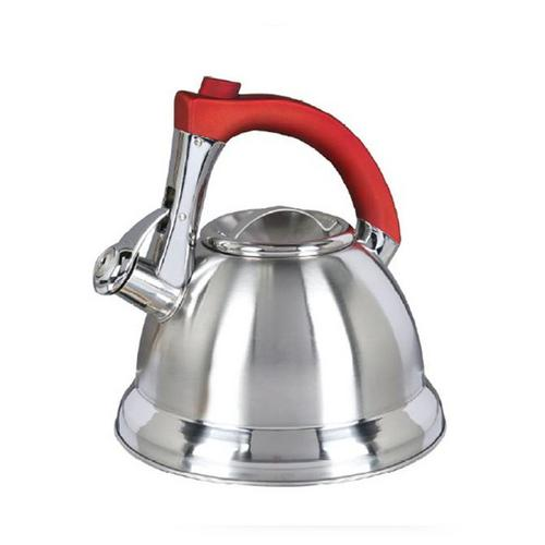 Mr. Coffee Collinsbroke 2.4 Quart Stainless Steel Tea Kettle with Red Handle-Kitchen Gadgets-SJI Shop