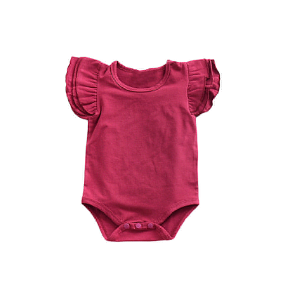 Newborn Baby Girl Summer Ruffles O-Neck Romper Jumpsuit Clothes Outfits Sunsuit-Baby Clothing (0-2 years)-SJI Shop