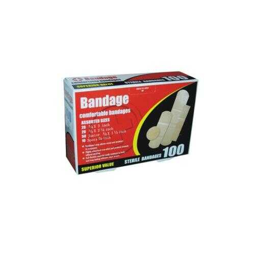 Case of [144] Sterile Bandages - 100 Count, Assorted Sizes