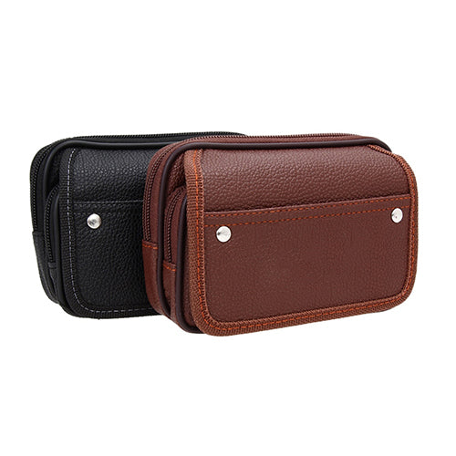 Men's Faux Leather Wallet Credit Card Phone Holder Casual Hanging Belt Purse-Wallets-SJI Shop