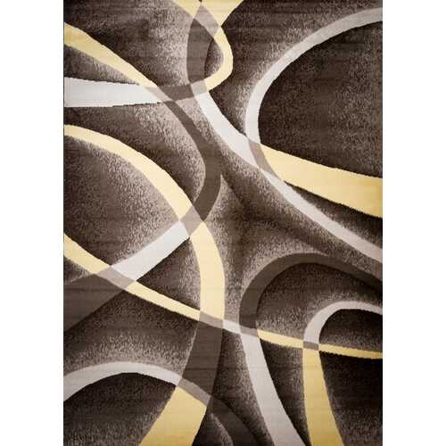 Aquilar Brown/Beige Area Rug 3 ft. by 5 ft.-Rugs-SJI Shop