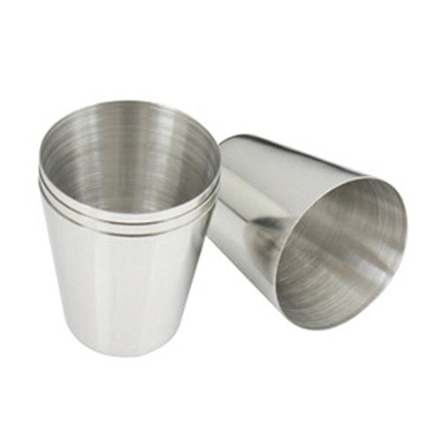 Outdoor Camping Hiking Polished Stainless Steel Whiskey Liquor Cup for Hip Flask-Others-SJI Shop
