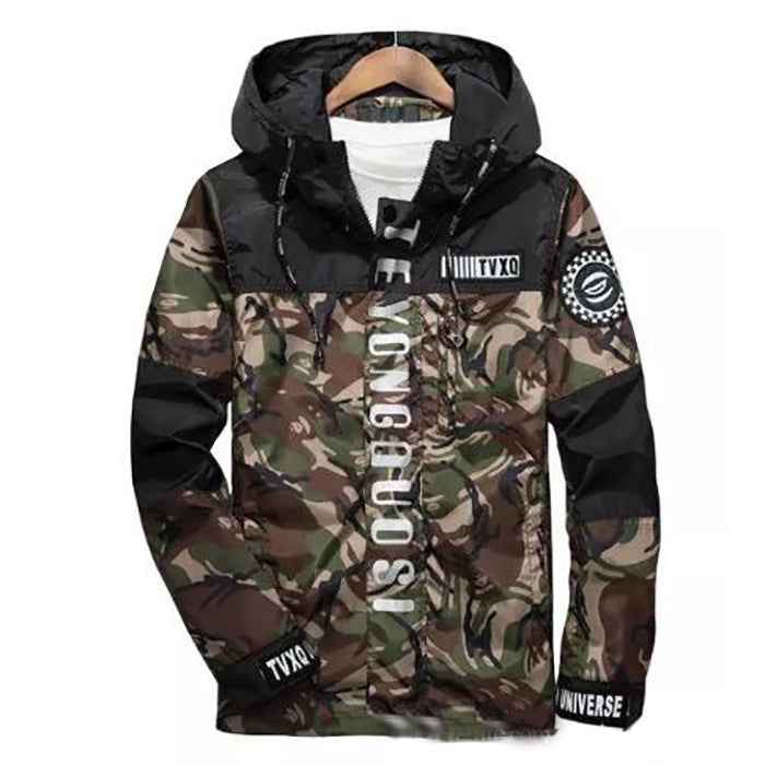 Fashion Men's Spring Brand Clothing 3m Reflective Male Camouflage Jacket Coat