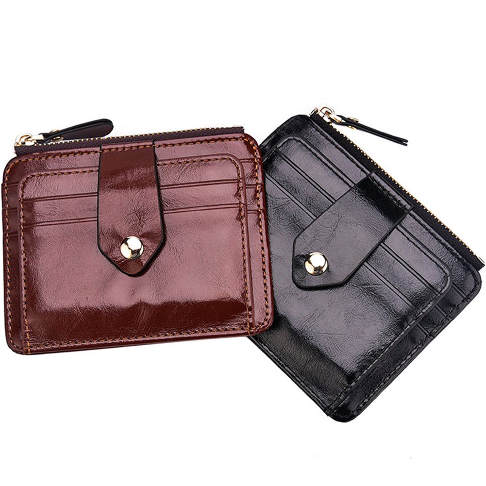 Retro Men Faux Leather Short Wallet Cash Card Organizer Mini Coin Purse Holder-Wallets-SJI Shop