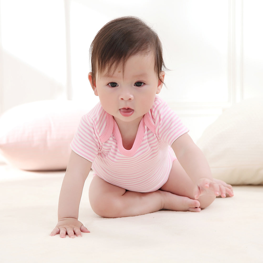 Newborn Baby Infants Summer Stripe Short Sleeve Romper Jumpsuit Clothes Outfits-Baby Clothing (0-2 years)-SJI Shop