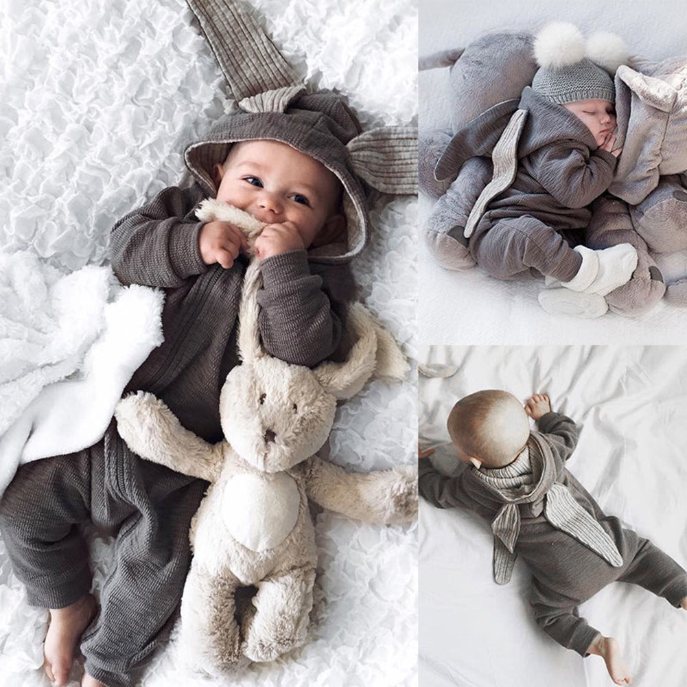 Infant Newborn Baby Girl Boy Cute Rabbit 3D Ear Romper Jumpsuit Bodysuit Clothes-Baby Clothing (0-2 years)-SJI Shop