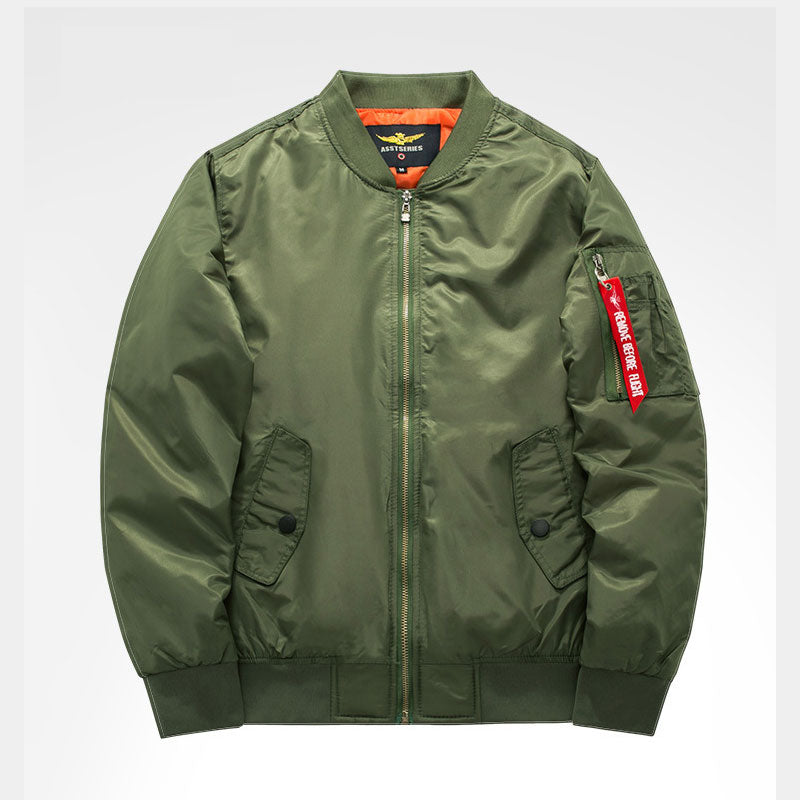 Ma1 Thick And Thin Army Green Military Motorcycle Ma-1 aviator Pilot Air Men Bomber Jacket