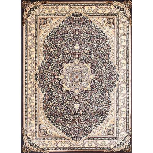 Msrugs Traditional Oriental Medallion Navy Beige Area Rug Persian Style Rug 750-Rugs-SJI Shop