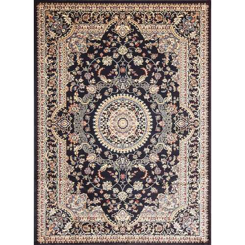 Msrugs Traditional Oriental Medallion Navy Beige Area Rug Persian Style Rug 900-Rugs-SJI Shop