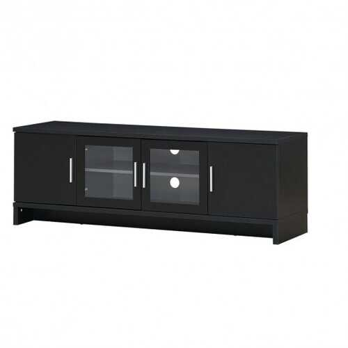 70'' Media Entertainment TV Stand with Storage Cabinet and Adjustable Shelf-Walnut