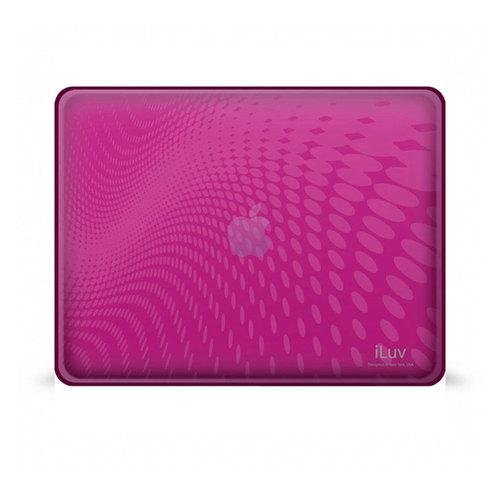 Pink Flexi-Clear Case With Dot Wave Pattern For iPad 1G-Accessories-SJI Shop