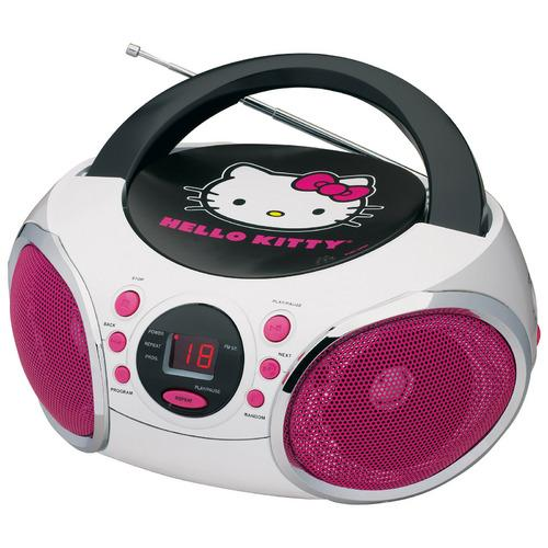 Hello Kitty Portable Stereo CD Boombox with AM/FM Radio Speaker-Kids Electronics-SJI Shop