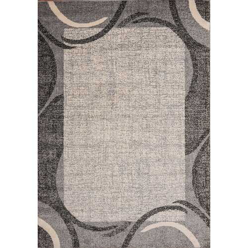 Ocean Crest Gray Beige Area Rug 5 ft. by 7 ft.-Rugs-SJI Shop