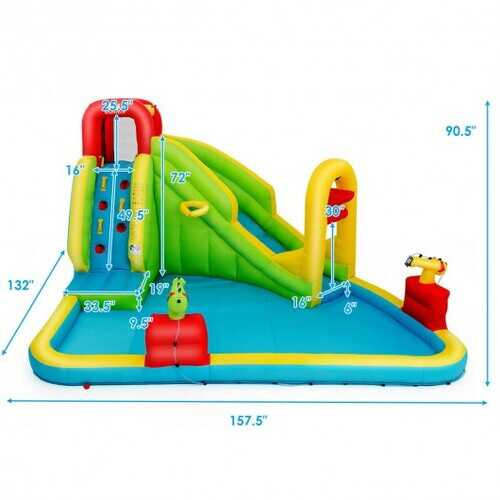Outdoor Inflatable Water Bounce House with 480W Blower