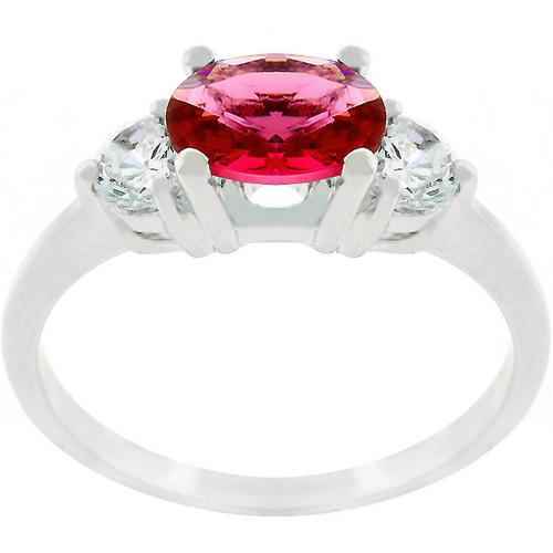 Oval Quartet Cubic Zirconia Ring-Rings-SJI Shop