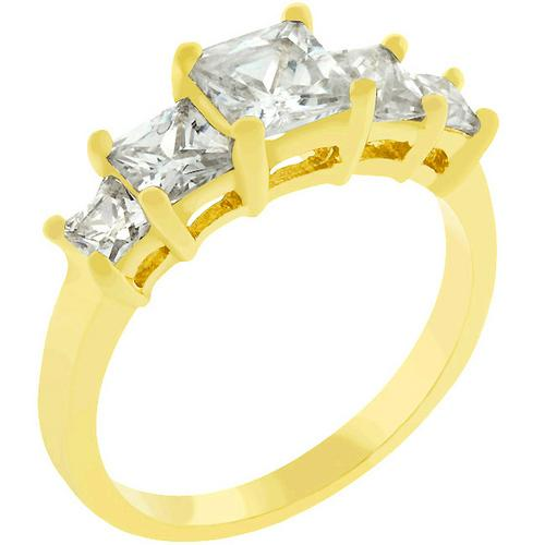 5-Stone Anniversary Ring in Goldtone-Rings-SJI Shop