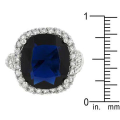 Deep Blue Sapphire Engagement Ring-Rings-SJI Shop