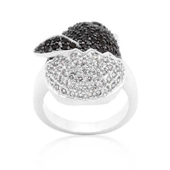 Black and White Cubic Zirconia Baby Chick Ring-Rings-SJI Shop