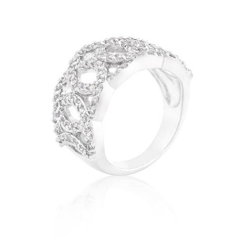 Cubic Zirconia Circular Ring-Rings-SJI Shop