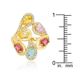 Multi-Color Cocktail Ring-Rings-SJI Shop