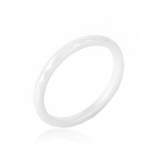 White Ceramic Band Ring-Rings-SJI Shop
