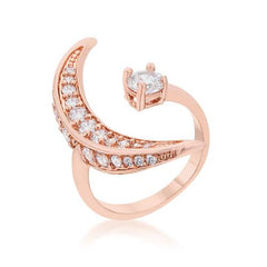 Luna .75ct CZ Rose Gold Delicate Ring-Rings-SJI Shop