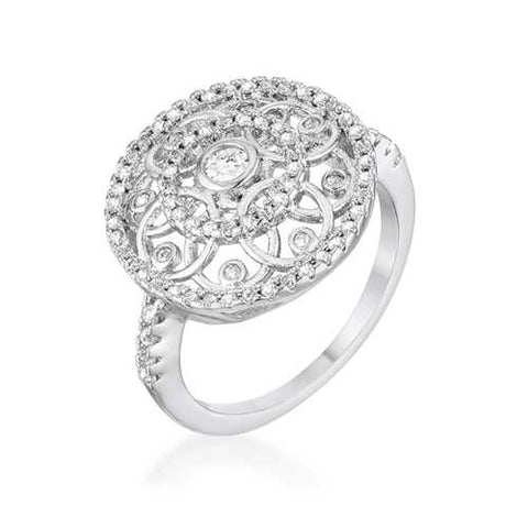 .5 Ct Interlocking Circles Ring with CZ-Rings-SJI Shop