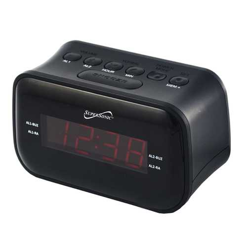 Supersonic Dual Alarm Clock Radio with Wireless Connectivity-Clocks-SJI Shop