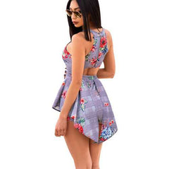 Uhnice Fashion Print Backless Tankini Hot Sale Dress Romper and Jumpsuit