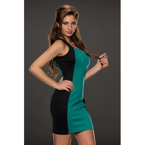 Green and Black Joining Bandage dress-Women Dresses-SJI Shop