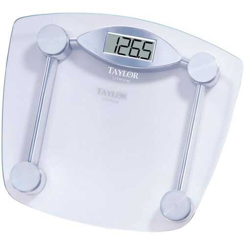 Taylor Precision Products 7506 Chrome & Glass Lithium Digital Scale
