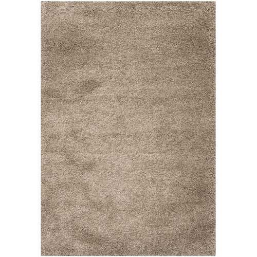 "6'7"" x 9'6"" Hand-Tufted Plush Taupe Area Rug-Rugs-SJI Shop"