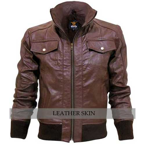 Brown Men Leather Jacket