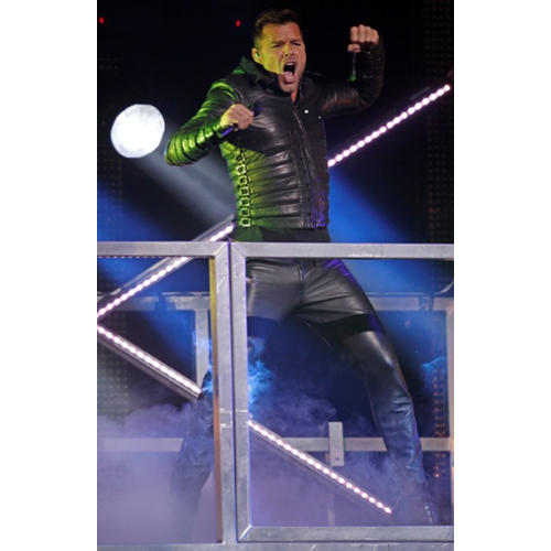 Ricky Martin Black Leather Jacket