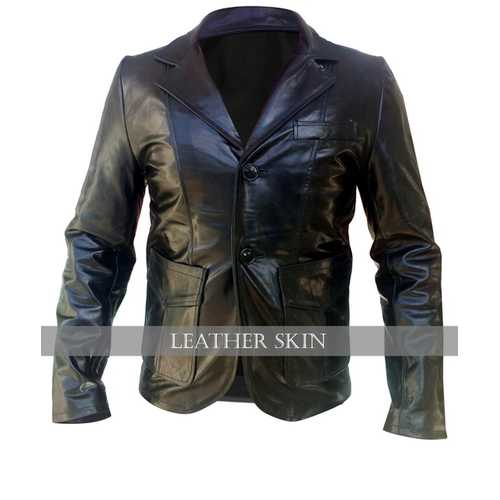 Black Men Leather Coat