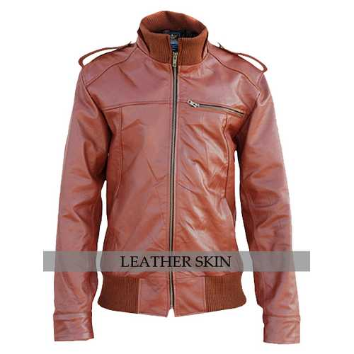 Red Unisex Leather Jacket