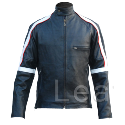 Men Back Leather Jacket