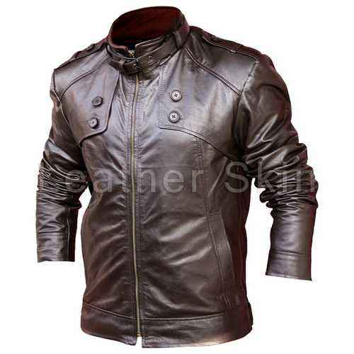 Men Brown Leather Jacket