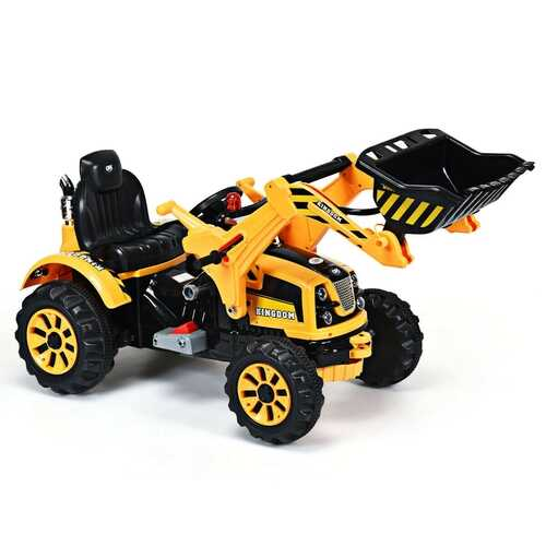 12 V Battery Powered Kids Ride on Dumper Truck - Color: Yellow