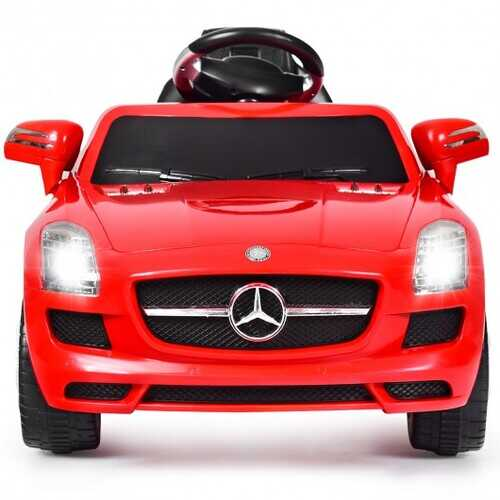 New Red Mercedes Benz sls r/c Mp3 Kids Ride on Car Electric Battery Toy-Red