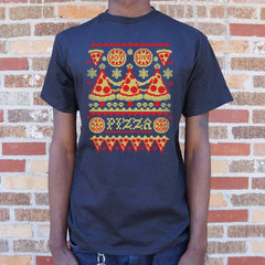 Ugly Pizza Sweater T-Shirt (Mens)-Mens T-Shirt-SJI Shop