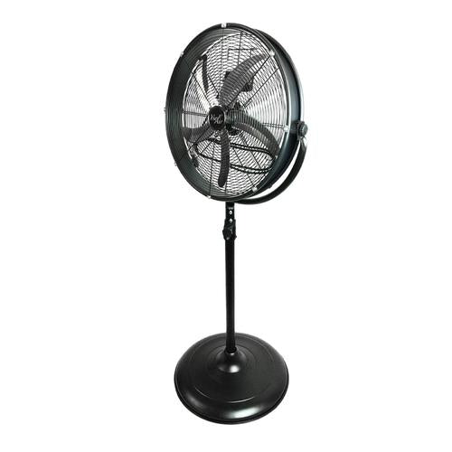 "Vie Air 20"" Industrial 3 Speed Heavy Duty Powerful and Quiet Metal High Velocity 360 Degree Tilting Pedistal Drum Fan"