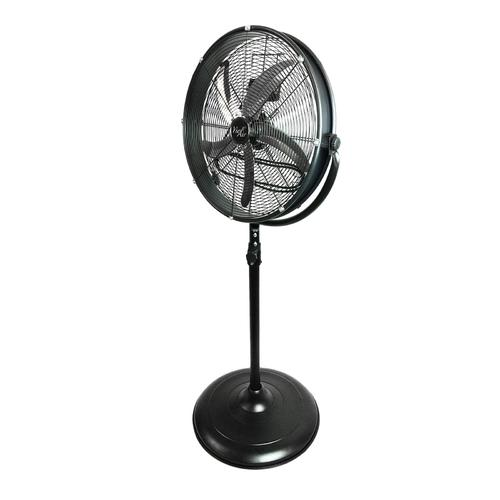 Vie Air 20 Inch Industrial 3 Speed Heavy Duty Powerful and Quiet Metal High Velocity 360 Degree Tilting Pedestal Drum Fan