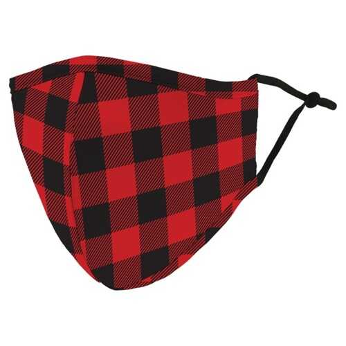 Weddingstar 5521-07 Adult Reusable/Washable Cloth Face Mask with Filter Pocket (Buffalo Plaid)