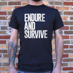 Endure And Survive T-Shirt (Mens)-Mens T-Shirt-SJI Shop