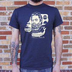 Herman Melville Quote T-Shirt (Mens)-Mens T-Shirt-SJI Shop