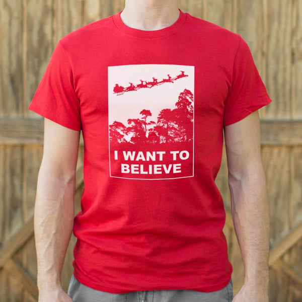 I Want To Believe In Santa T-Shirt (Mens)-Mens T-Shirt-SJI Shop