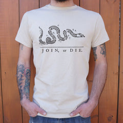 Join Or Die Snake T-Shirt (Mens)-Mens T-Shirt-SJI Shop
